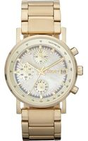 DKNY Goldplated Stainless Steel Chronograph Watch