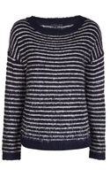 Theyskens' Theory Striped Sweater - Lyst