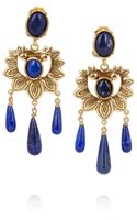 Oscar de la Renta Goldplated Lapis Lazuli Earrings