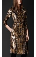 Burberry Prorsum Over-printed Python Trench Coat