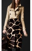 Burberry Prorsum Contrast Animal Print Trench Coat - Lyst