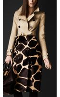 Burberry Prorsum Contrast Animal Print Trench Coat