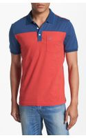 Original Penguin Color Block Jersey Polo - Lyst