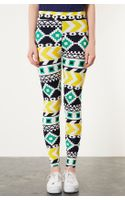 Topshop Geometric Print Leggings