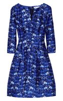 Oscar de la Renta Day Printed Silk and Cottonblend Dress - Lyst