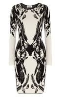 Temperley London Stretchknit Intarsia Dress