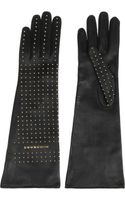 Burberry Shoes & Accessories Studded Leather Gloves - Lyst
