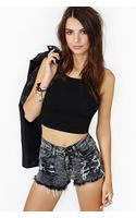 Nasty Gal Acid Shred Cutoff Shorts
