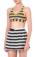 Adidas X Opening Ceremony Striped Sports Bra - Lyst