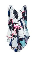 Balenciaga Gingko Print Dress