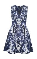 McQ by Alexander McQueen Kaleidoscope Beetle Print Dress - Lyst