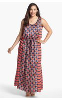 Michael by Michael Kors Soho Square Sleeveless Maxi Dress