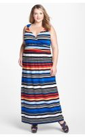 Vince Camuto Bright Stripe Maxi Dress