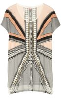 Sass & Bide Playing with Fire Embellished Cotton Jersey Tshirt
