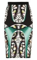Peter Pilotto Eleni Printed Stretch crepe Pencil Skirt - Lyst