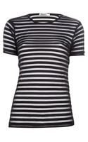 T By Alexander Wang Semi Sheer Striped Top