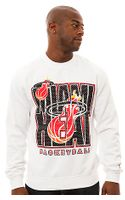 Mitchell & Ness The Miami Heat Crewneck Sweatshirt