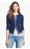 Halogen Three Quarter Sleeve Cardigan