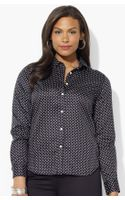 Lauren by Ralph Lauren Cotton Blouse - Lyst