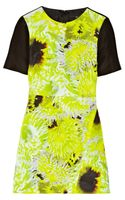 Tibi Athena Printed Silk Linen and Cotton-blend Mini Dress - Lyst