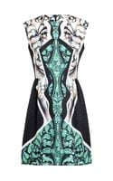 Peter Pilotto Placement Printed Silk Dress - Lyst