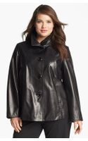 Ellen Tracy Aline Leather Jacket