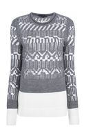 Alexander Wang Burnount Fair Isle Jersey Sweater - Lyst