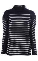 T By Alexander Wang Striped Long Sleeve Top - Lyst