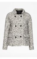 French Connection Electric Check Boucle Coat