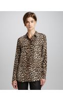 Equipment Signature Leopardprint Slim Blouse