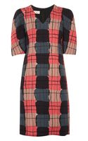 Marni Printed Wool Crepe Dress - Lyst