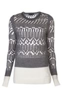 Alexander Wang Burnout Cable Knit Sweater - Lyst