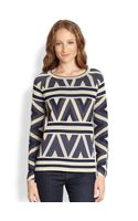 BCBGMAXAZRIA Silk Cotton Sweater - Lyst
