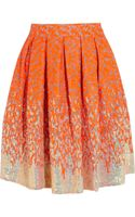 Matthew Williamson Winter Garden Embellished Organza Skirt