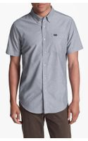 RVCA Thatll Do Short Sleeve Oxford Shirt - Lyst