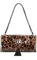 Moschino Small Leopardprint Tassel Shoulder Bag Maroon - Lyst