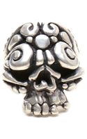 Duffy Sterling Silver Ornate Skull Ring - Lyst