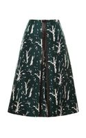 Marni Bonded Silk Nature Printed Skirt