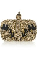 Alexander McQueen The Skull Swarovski Crystalembellished Box Clutch