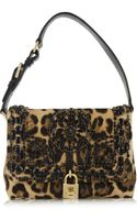 Dolce & Gabbana Miss Dolce Medium Leopard Print Calf Hair Shoulder Bag