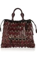 Burberry Prorsum Leather Tassel-trimmed Calf Hair Shoulder Tote