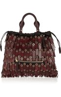Burberry Prorsum Leather Tassel-trimmed Calf Hair Shoulder Tote - Lyst