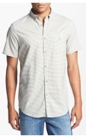Ben Sherman Stripe Print Short Sleeve Woven Shirt