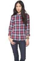Madewell Multi Plaid Eden Boyshirt - Lyst
