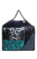 Stella McCartney Fauxsnake Embossed Falabella Bag - Lyst