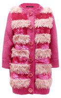Marc Jacobs Faux Fur and Sequinembellished Cardigan