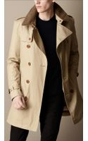 Burberry Mid Length Trench Coat with Warmer