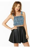 Nasty Gal Slacker Overall Crop Top - Lyst