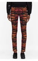 McQ by Alexander McQueen Orange Tiger and Tartan Print High Waisted Pants