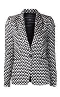 By Malene Birger By Malene Birger Bosede Triangle Print Blazer